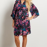 Multi-Color-Floral-Dressing-Robe
