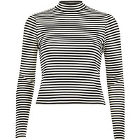 River Island Womens Cream stripe long sleeve turtle neck