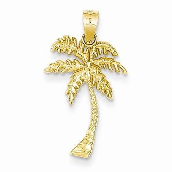 14k Gold Mini Palm Tree Pendant