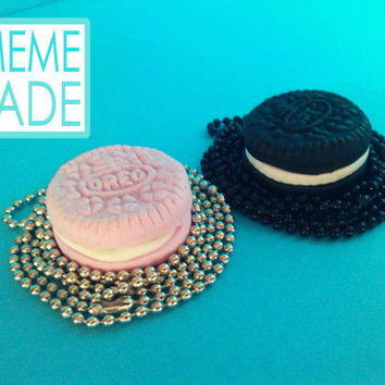 I oreo Multicolor Pendant Kawaii Cute cake Cookie Food Deco Necklace pendant Jewelry necklace biscuit Polymerclay