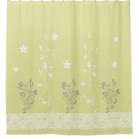 Shower Curtain floral yellow