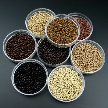 Nano Cooper Micro Rings Beads For Use With Nano-Tipps Pre Bonded Hair Extensions