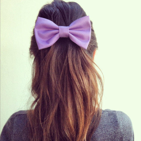 big light purple hair bow from colordrop on etsy epic