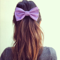 BIG Light Purple hair bow by colordrop on Etsy
