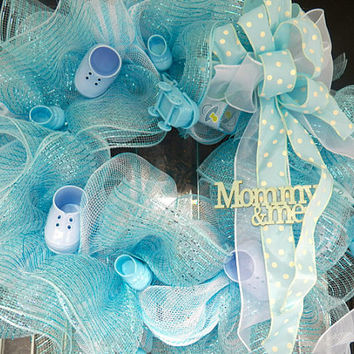 Baby Shower Decoration, Welcoming Wreath, Door Hanger, Front Door Wreath, New Baby