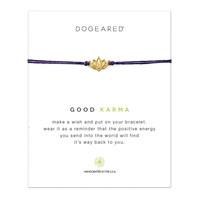 good karma happy lotus plum linen bracelet, gold dipped - Dogeared