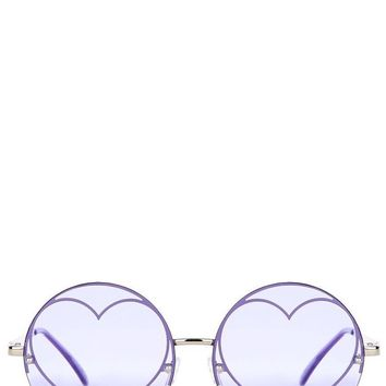 Lilac Heart Sunglasses by Skinny Dip London