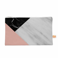 "Cafelab ""Marble Collage With Pale Pink ""  Gray Pink Everything Bag"
