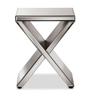 Baxton Studio Morris Modern and Contemporary Hollywood Regency Glamour Style Accent Side Table Set of 1