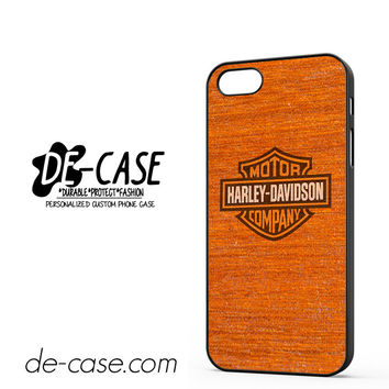 Harley Davidson Wood Pattern DEAL-5058 Apple Phonecase Cover For Iphone 5 / Iphone 5S