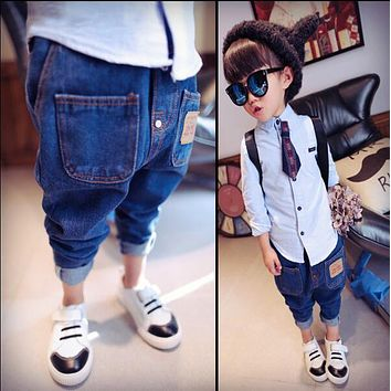 new Autumn Spring Casual Kids Boy Girl Jeans 1-6yrs Children's Clothing Fashion Brand Boys Girls Jeans Regular Kids Clothes