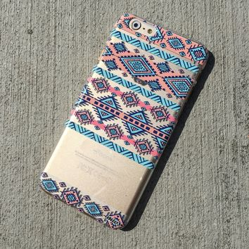 Henna Colored Aztec 2 - Clear TPU Case Cover Phone Case