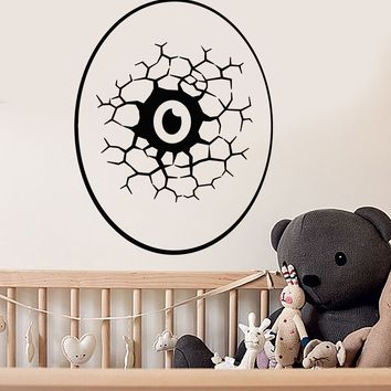 Vinyl Wall Decal Cartoon Eye Egg Monster Dinosaur Nursery Room Stickers (2770ig)