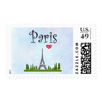 French Paris with Eiffel Tower Postage