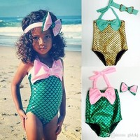 Baby Girls the Little Mermaid Bikini Set Swimwear Swimsuit Bathing Suit 2-7Y