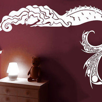 Wall Decal Mermaid Nymph Nature Hair Beauty Sea Animal Wall Stickers Decor C516