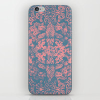 Psychedelic Coral Barrier Reef Pattern Jellyfish Octopus by Pepe Psyche iPhone & iPod Skin by Pepe Psyche
