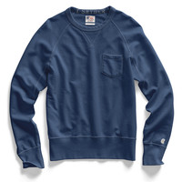 Washed Royal Pocket Sweatshirt