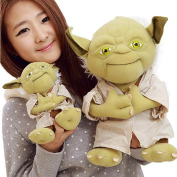"Yoda plush 1pc 9""22cm  Star Wars Figure Plush Toy Aliens Yoda Soft Stuffed Plush Doll Toy Kawaii Toy for Baby"