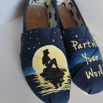 Custom Hand-Painted Disney Little Mermaid TOMS