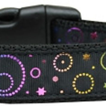 Galactic Shimmer Nylon Dog Collar Large