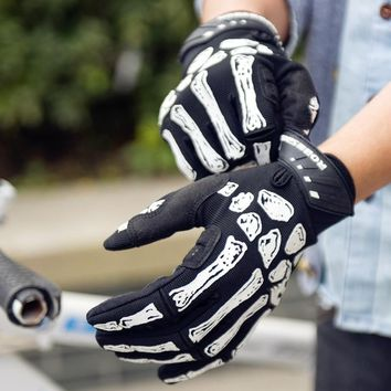 ROBESBON 2018 Bike Bicycle Gloves Full Finger Winter Bone Skeleton Hunting Riding Cycling Sports Glove Luva Guantes Ciclismo