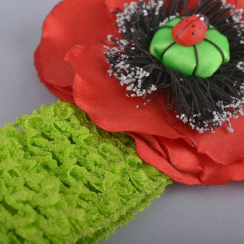 Handmade designer headband unusual headband with flower stylish accessory