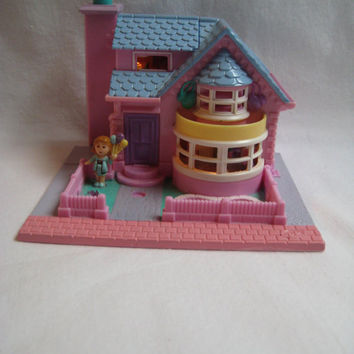 Vintage 1993 Polly Pocket Bay Window Bluebird Miniature Toy Jessica Balloon Figure Included USED