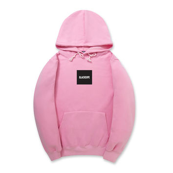 Autumn Winter Hip Hop Fashion Streetwear Skateboard Boy Justin Bieber Kanye West Hoodie Men Blackdope Black Dope Brand Print Letter Cotton Pink Hoodie