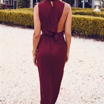 Marsala Drape Dress - SABO SKIRT