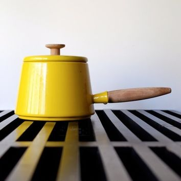 Yellow Enamel Fondue Pot - Copco by Michael Lax