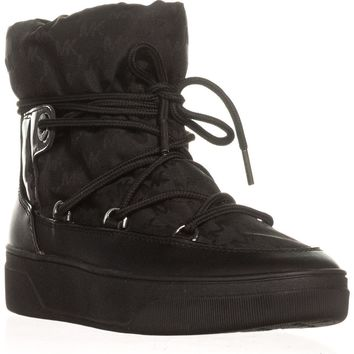 MICHAEL Michael Kors Nala Cold Weather Ankle Boots, Black, 6.5 US / 36.5 EU