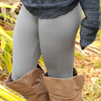 RESTOCK: Back To Basics Leggings: Gray - One