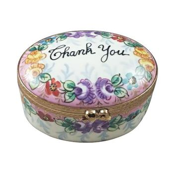 Thank You Limoges Porcelain Box