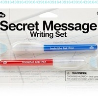 Secret Message Writing Set - Invisible Ink Pens Set of 2:Amazon:Office Products