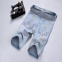 Denim Pants Shorts [10699375299]