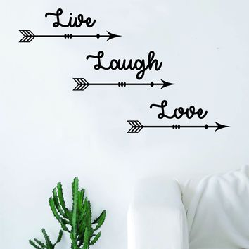 Live Laugh Love Arrows Quote Wall Decal Sticker Room Art Vinyl Home Decor Living Room Bedroom Inspirational