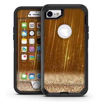 Scratched Gold Streaks - iPhone 7 or 7 Plus OtterBox Defender Case Skin Decal Kit
