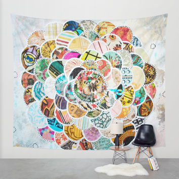 Springbloom Wall Tapestry by Jenndalyn