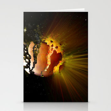 Eclipse of the Heart Stationery Cards by Kay Evison