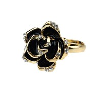 Black Love Rose Ring