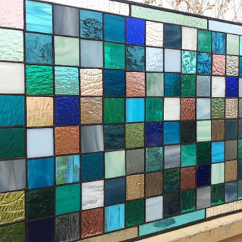"Stained Glass Window Panel - ""Cool Shades II"" (W-43)"