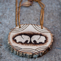 Pendant Necklace Woodburning - made to order