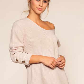 Mia Sweater - Taupe