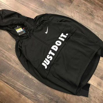 DCCKNQ2 Nike just do it Fashion Sport Hoodie Top Sweater Pullover