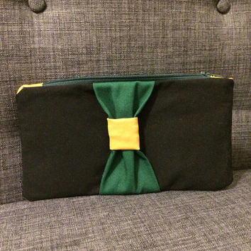 Slytherin Inspired Zippered Pouch