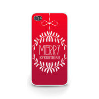 Christmas iPhone 6 case, iPhone 5S, Phone Cases, Merry Everything Holiday Case, Samsung S4, Galaxy S5 - X012