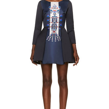 Mary Katrantzou Navy Directopos Copelia Dress