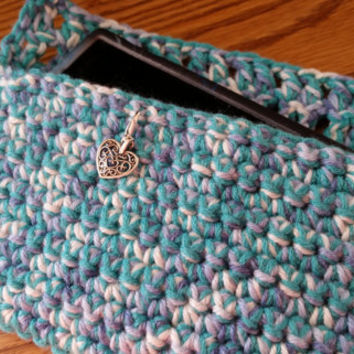 Cell Phone Credit Card Purse Holder Crocheted