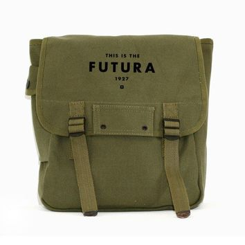 Backpack - Futura - Simple Canvas Backpack - Army Green